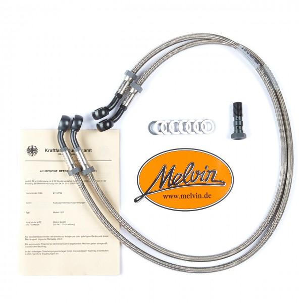 Melvin Stahlflex Bremsleitung Honda CBR 900 RR 2002-2003 Racing Kit vorne